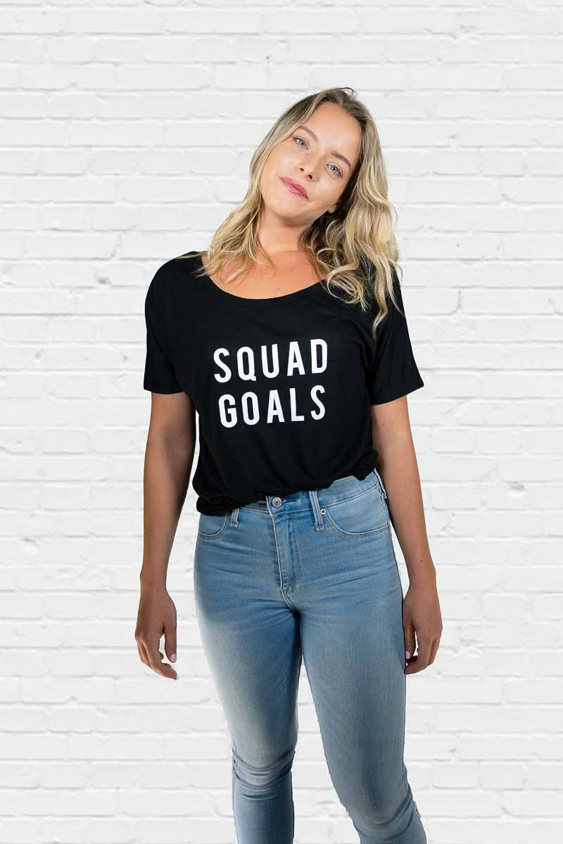 Squad Goals AF Off the Shoulder Tee