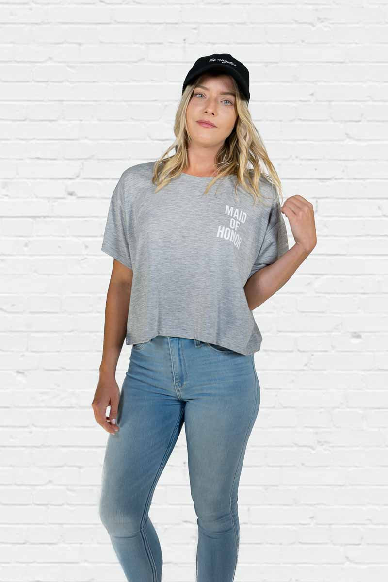 Maid of Honor Definition Boxy Tee
