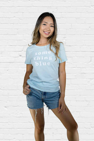 Something Blue Fitted Tee