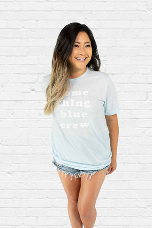 Something Blue Crew Boyfriend Tee