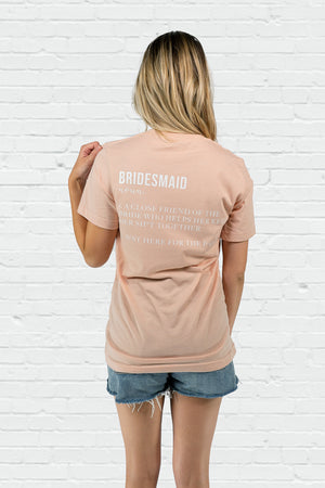 Bridesmaid Definition Boyfriend Tee