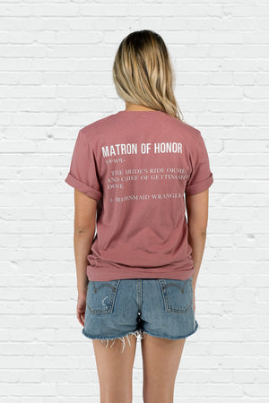 Matron of Honor Definition Boyfriend Tee