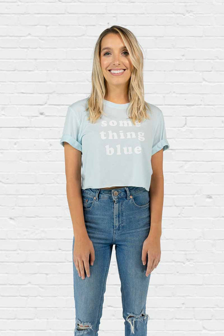 Something Blue Crop Tee