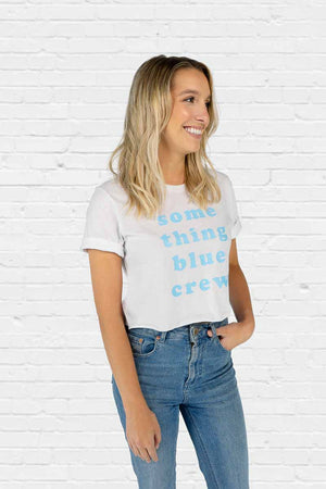 Something Blue Crew Crop Tee