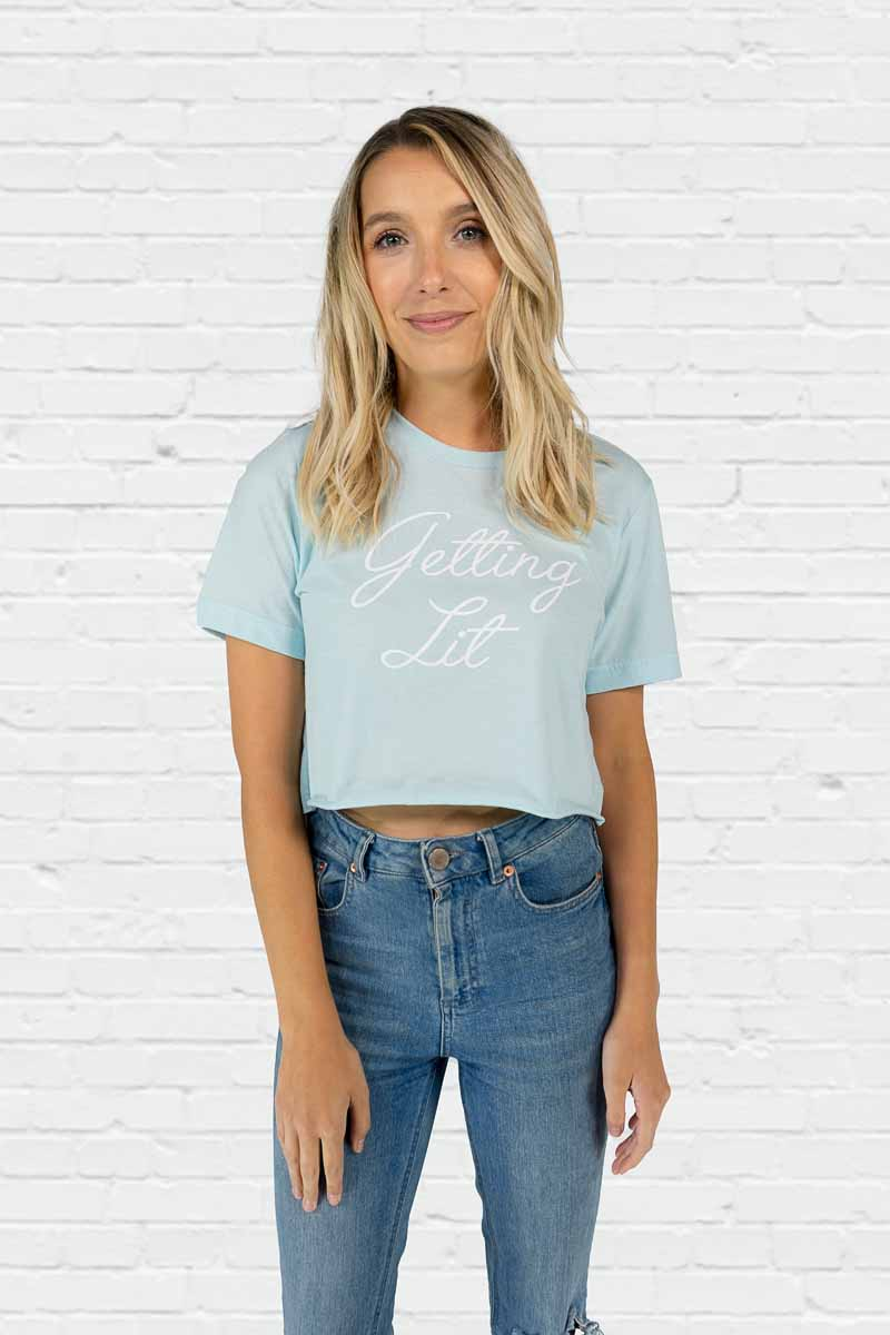 Getting Lit Crop Tee