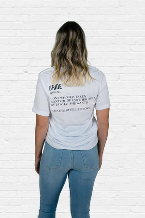 Bride Definition Boyfriend Tee