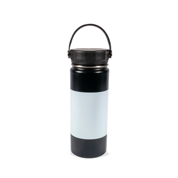 18 oz Black Water Bottle