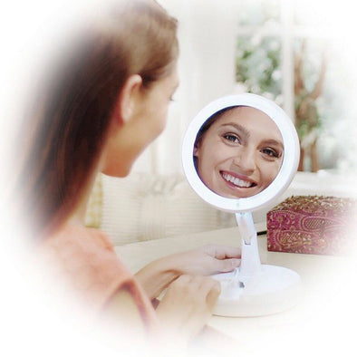 Women Make-up Mirror LED Collapsible Make-up Mirror Retractable Make-up Mirror ONLY