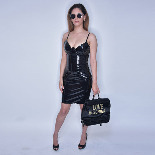 Bella Latex Black Dress