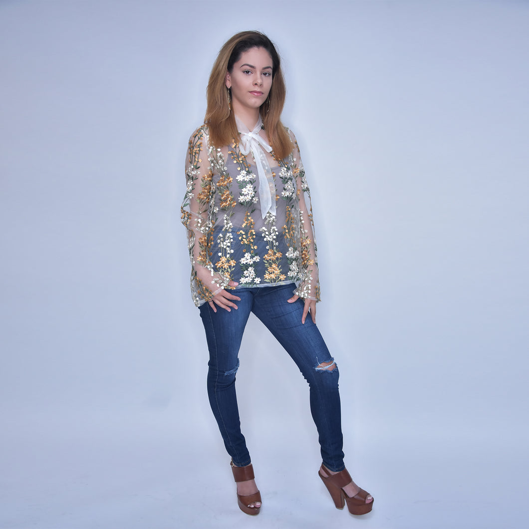 Till Crystal Lace Blouse