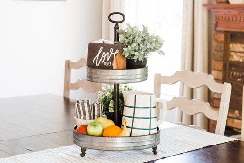 *Favorite* Two Tier Metal Tray