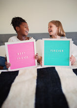 Pink or Turquoise Letter Boards