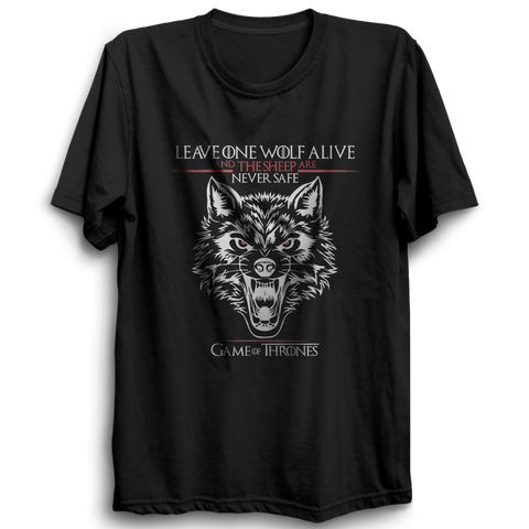 GOT-41 Leave One Wolf Alive Half Sleeve Black