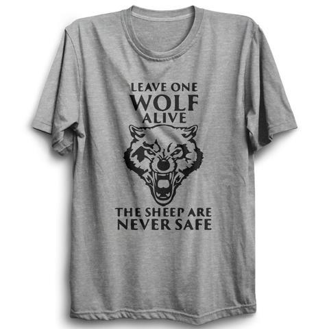 GOT-42 Leave One Wolf Alive Half Sleeve Grey