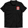 Image of HDFC Logo Polo T-shirt- Black