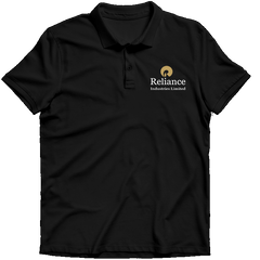 Reliance Industries Limited Polo T-shirt- Black
