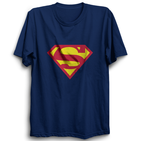 Superman Half Sleeve Navy Blue