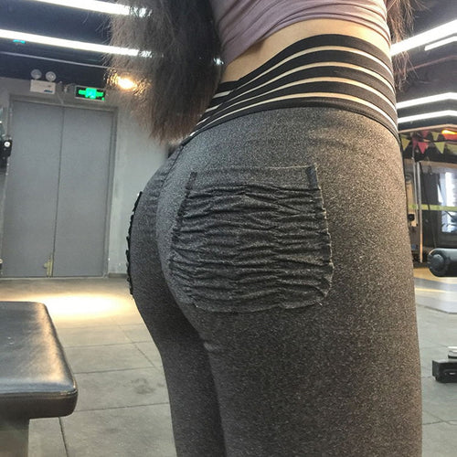 Mesh Waist Pushup Leggings