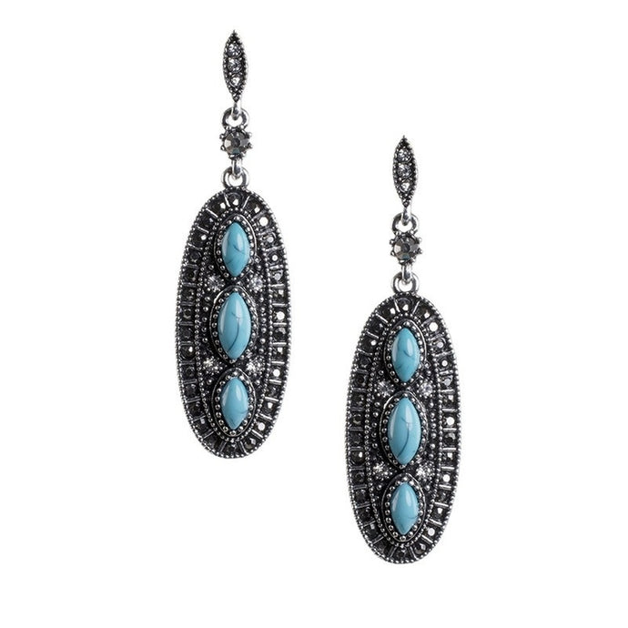 Bahar Turquoise Sheild Earrings