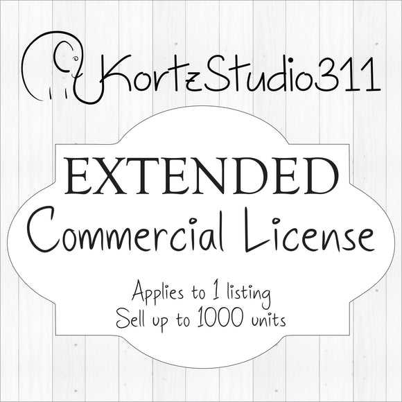 No Credit Required Extended Commercial License for FIVE Items Up to 2000 Sales!