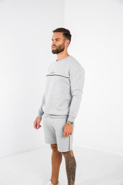 Piped Crew  · Stone Grey