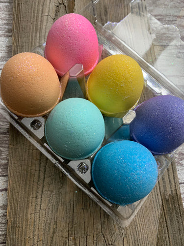 Easter Bath Bomb Rainbow 6 pack