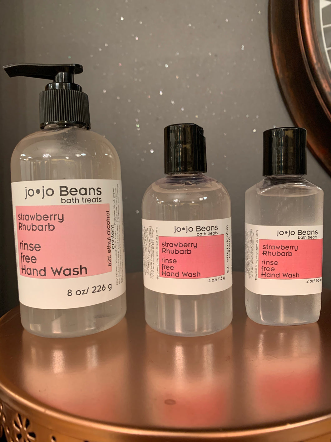Strawberry Rhubarb - Rinse Free Hand Wash (Hand Sanitizer)