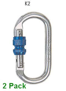 2pk Screw Gate Karabiner