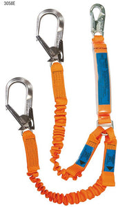 Energy Absorbing Twin Leg Access Lanyard With Elasticated Webbing