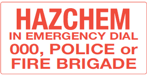 Signage - Hazchem & Emergency Entrance Notice - 600mm x 300mm