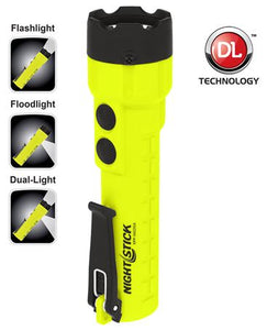 XPP-5422GX - Intrinsically Safe Dual-Light Flashlight/Floodlight - Nightstick Safety Torch