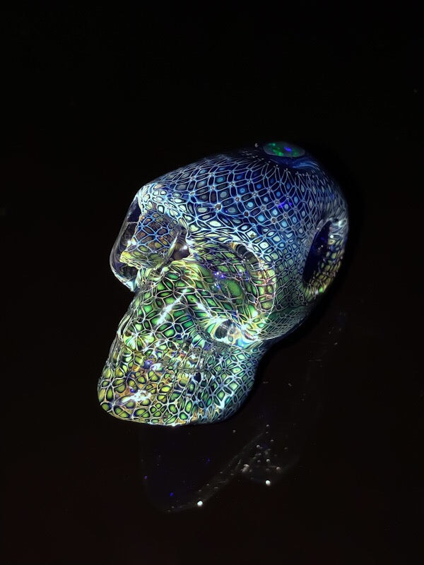 Elevator Glass Elongated 3rd Eye Opal Skull