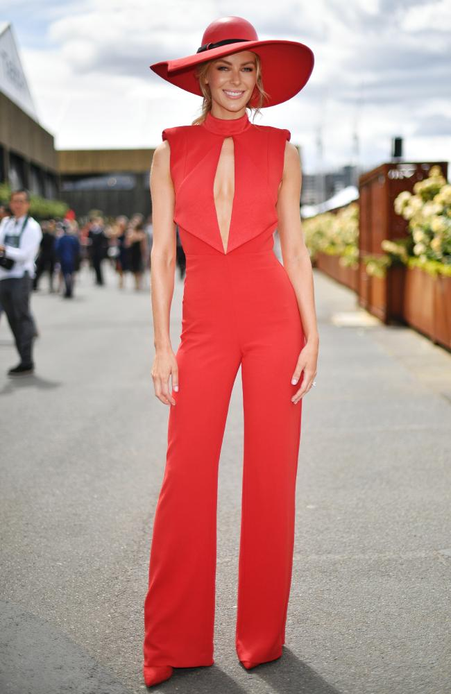 Misha Collection Justine Pantsuit in Famous Red