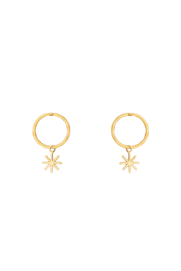 By . G Mini Starry Hoop Earring Gold