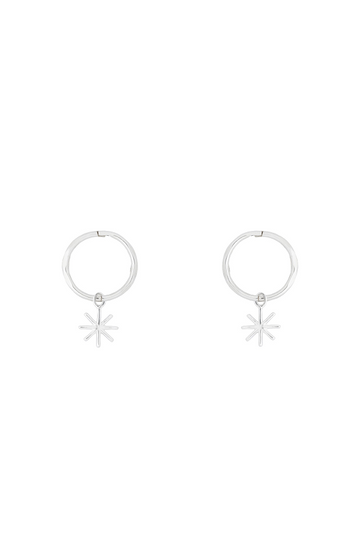 By . G Mini Starry Hoop Earring Silver