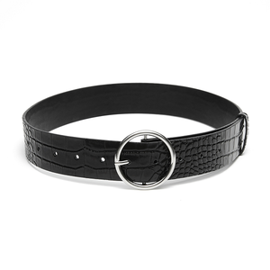 Nakedvice The Compass Black Croc Belt