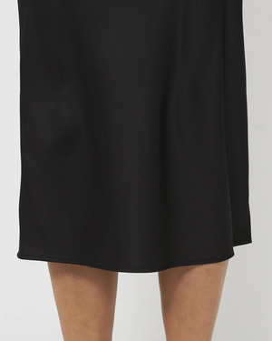 Everly Collective All These Years Satin Skirt Black