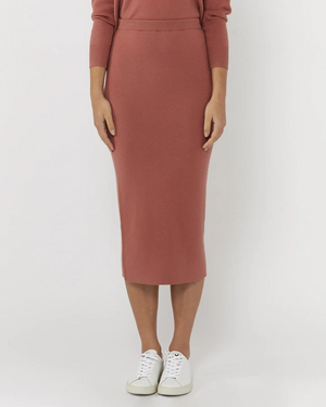 Everly Collective All I Want Skirt Deep Blush