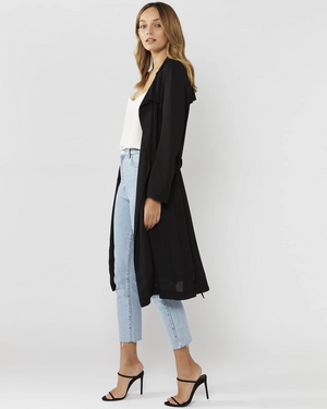 Everly Collective By Your Side Sheer Trench Black