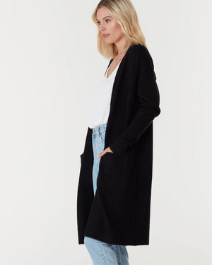 Everly Collective Toronto Long Cardigan Black