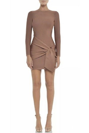 Misha Collection Drew Bandage Dress Bronze