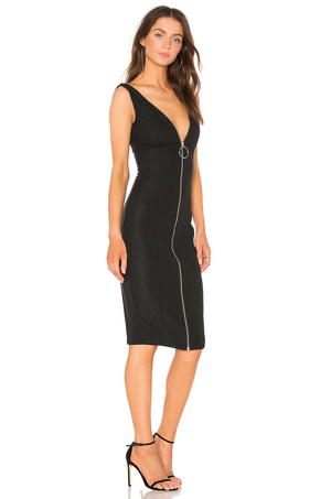 Misha Collection Lois Midi Dress Black