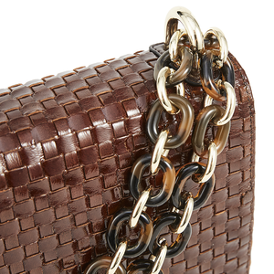 Nakedvice The Chain Bag Brown Weave Gold PRE ORDER