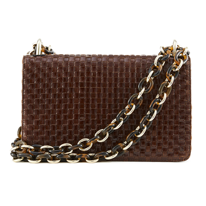 Nakedvice The Chain Bag Brown Weave Gold