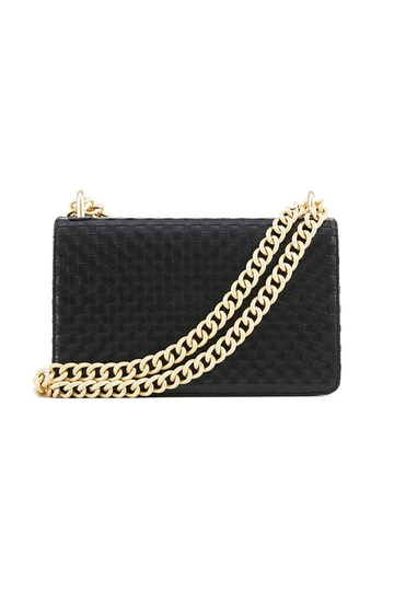 Nakedvice The Chain Bag Black Weave Gold