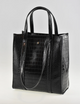 Peta and Jain The Harlie Tote Bag Black Croc