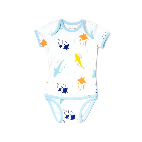 EASYEO Ocean Waves Romper