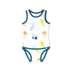 EASYEO Oceanwaves Sleeveless Romper