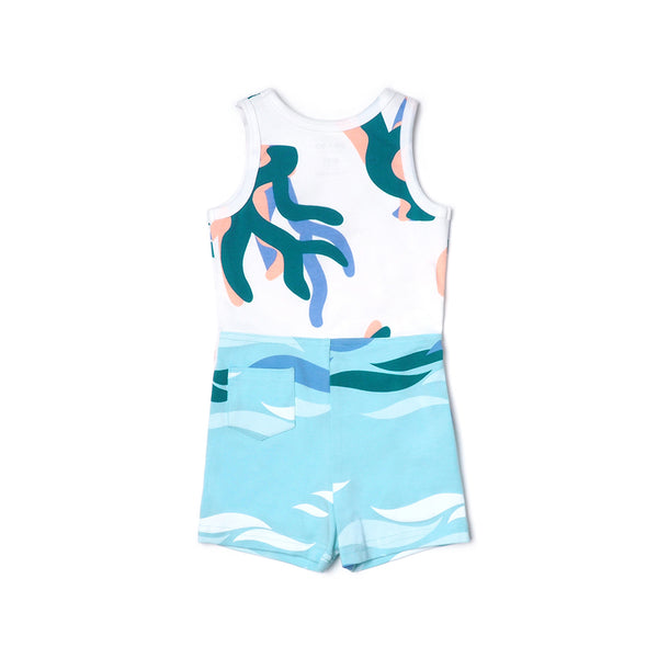EASYEO Ocean Waves Tank Romper Shorts Collection