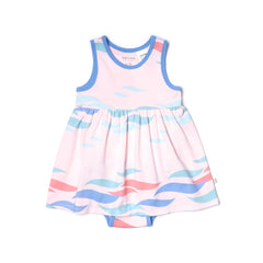 EASYEO Ocean Waves Tank Romper Dress Collection